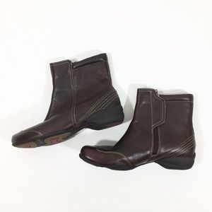 Women's Hush Puppies Brown Leather Ankle Boots